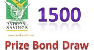 Prize Bond List 1500 - Full Draw # 76 Result 1st November, 2018 Faisalabad
