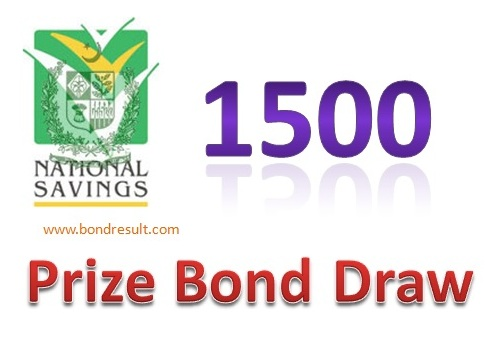 Prize bond 1500 held at FSD 17th November 2014