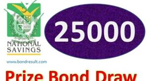 Draw 26, Rs. 25000 Prize Bond List, Rawalpindi On 01-08-2018 Results