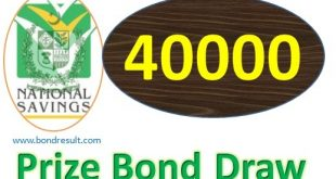 Check 40000 Prize Bonds Sep 2018 Draw Results Online