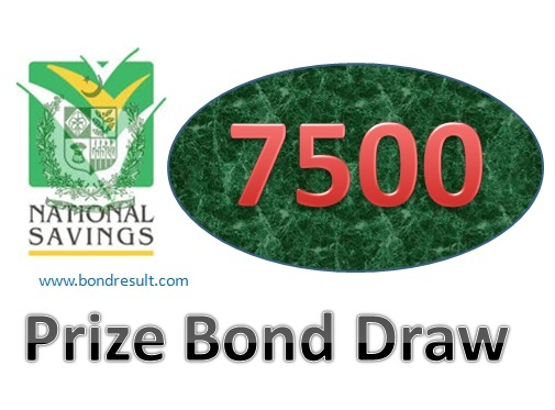 7500 Prize Bond List result 2017