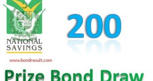 Rs. 200 Prize Bond draw List, Lahore On 16 Sept, 2019