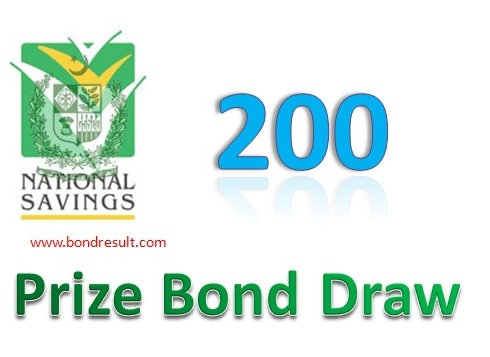 Full list of Prize Bond Rs 200 draw List 15 September 2015