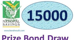 Rs. 15000 Prize bond list Draw #77 Result, 02 January, 2019 Karachi