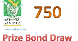 Rs. 750 Prize Bond List, Draw 77, 15-01-2019 Peshawar online Results