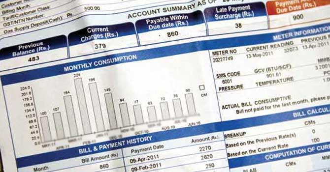 electricity bills  sample