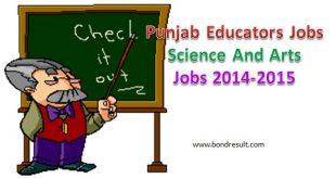 Punjab Educators Science And Arts Jobs 2014-2015