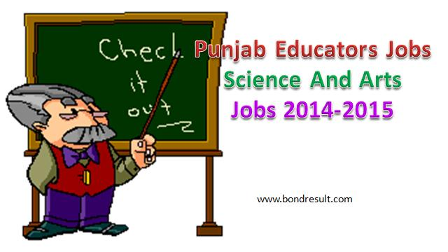 Punjab Educators Science And Arts Jobs 2014-2015