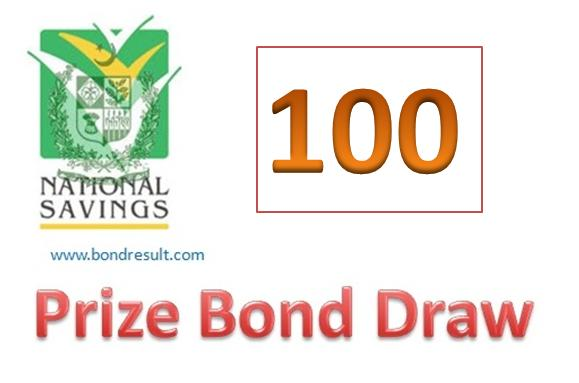 Rs 100 Prize Bond Draw List 15 May 2017