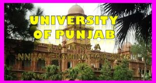 Admission form and Fee schedule for MA/M.Sc Annua