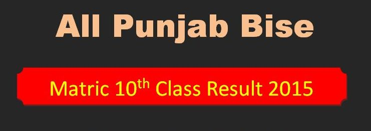 All Pakistan Punjab BISEs Boards Matric Result 2015