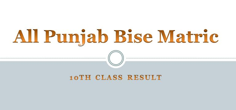 All Punjab Bises matric 10th Class Result