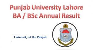 PU Lahore B.A / B.Sc Annual Result 2017