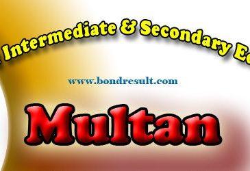 Bise Multan Inter FA-FSC Part-1 11th Class Result 2016