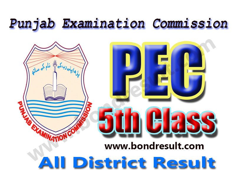 PEC 5th Class Result 2016