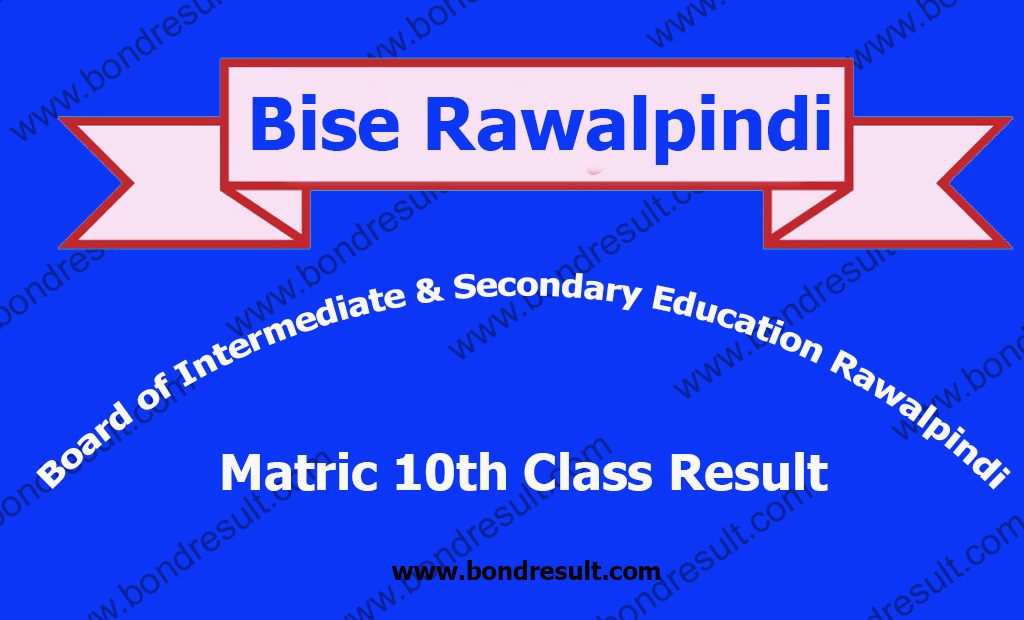 Online BISE Rawalpindi Board SSC Part 2 Result 2019 Matric