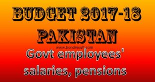 Latest Increase in Salary Budget 2017-18 for Govt Employees