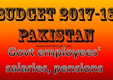 Government Budget 2017 2018 Salary Pay & Pension Increase