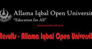 AIOU Allama Iqbal Open University Result Online