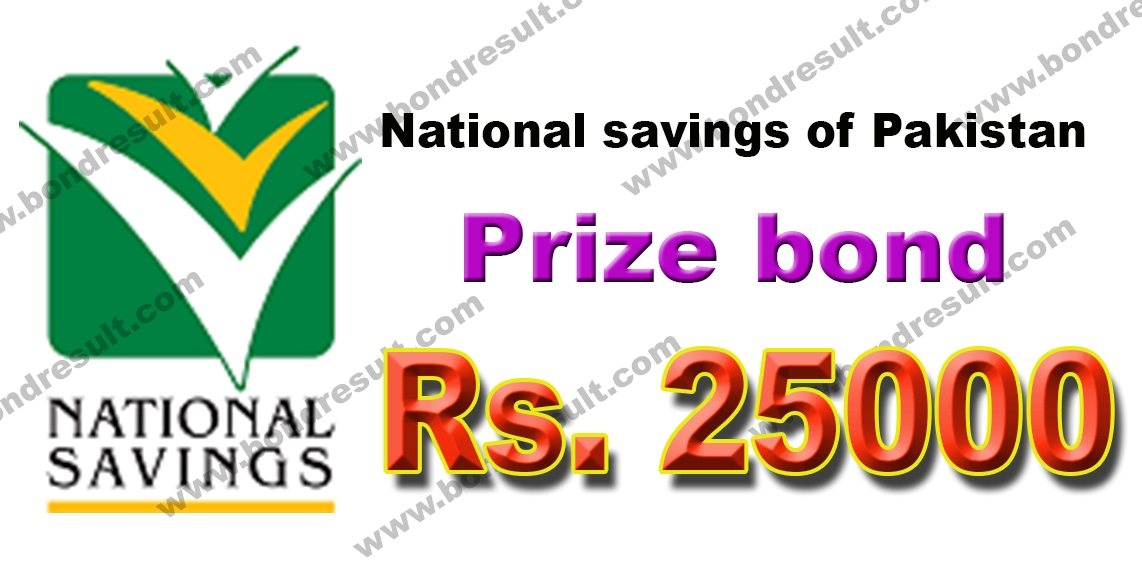 Rs. Prize bond 25000 List 2017 by National savings