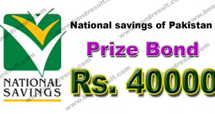 Rs. Prize bond 40000 List 2017 by National savings. pk