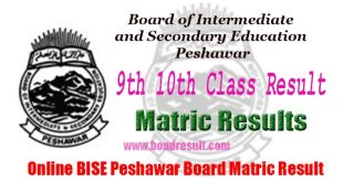 Board of Intermediate & Secondary Education Peshawar Matric Result 2017