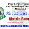 BISE Malakand Board 9th & 10th Class Annual Matric Result 2017