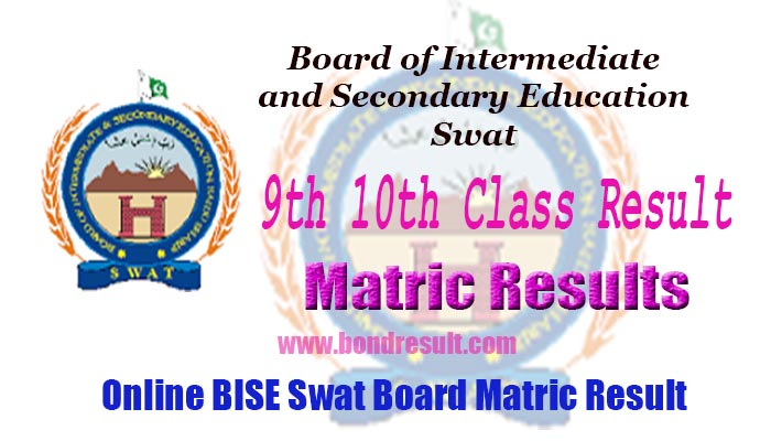 BISE Swat Board 9th & 10th Class Annual Result 2018