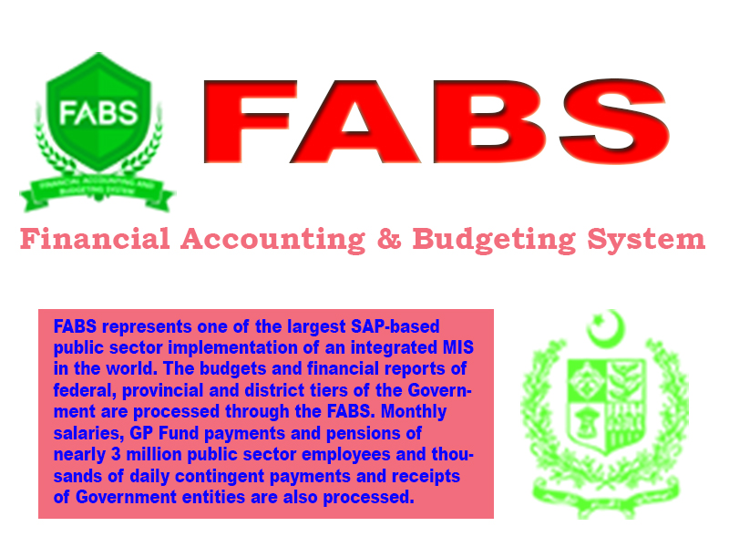 FABS CGA Pakistan Get Financial Accounting & Budgeting System (FABS) www.fabs.gov.pk updates