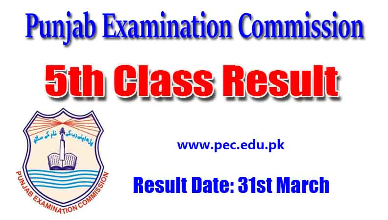 PEC 5th Class Result online