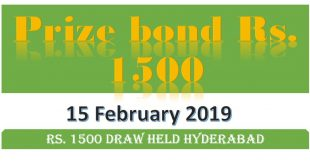 Draw 77, Rs. 1500 Prize Bond List, Hyderabad On 15-02-2019 Results