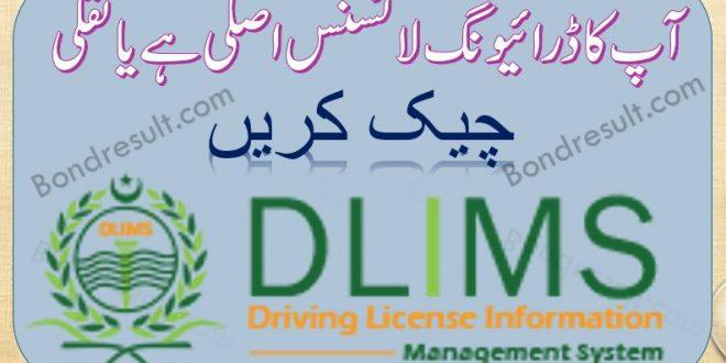 DLIMS Driving license verification - Govt of Punjab