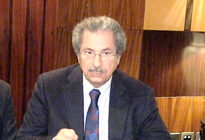 Minister for Federal Education Shafqat Mahmood
