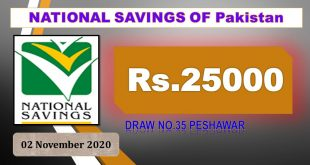 Draw #35 Rs. 25000 Prize bond Result,