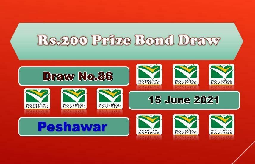 Rs. 200 Prize bond list Draw #86 Result, 15 June, 2021 Peshawar